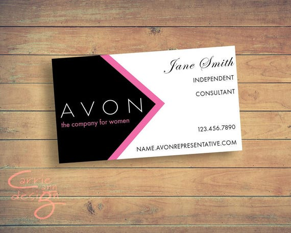 Super Avon Sales Representative Business Card Digital Design/ DX46