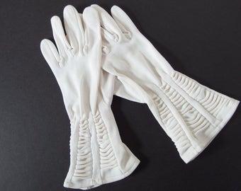 Vintage Gloves - Ruched Gauntlet Gloves