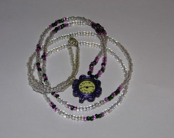 Lovely Romantic Watch Necklace - EXTRA Long Flapper Girl length -Ships Priority! MORE Jewelry in shoppe!