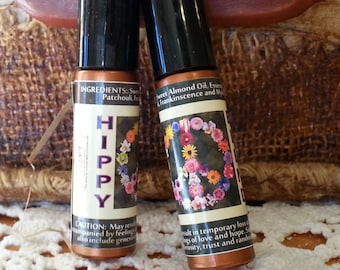 Hippy Essential Oil Blend with Patchouli and Frankinsence | .35 oz