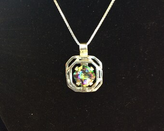 Sterling Silver & Mystic Topaz Necklace