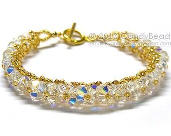 Crystal Bracelet; Swarovski Bracelet; Glass Bracelet; Aurora Borealis Swarovski Crystal Bracelet by CandyBead