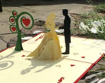 Wedding Pop Up Card, wedding card ideas, wedding cards, wedding, wedding gift, wedding card box, bride and groom, wedding dresses 2018