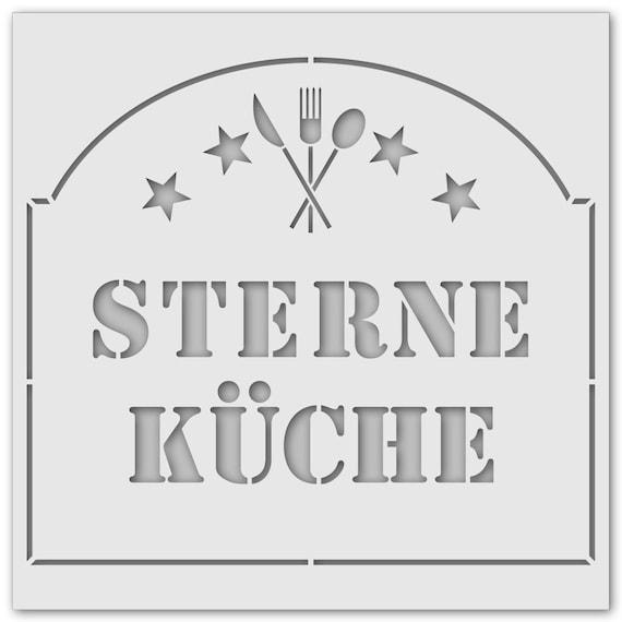 Schablone Sterne Küche 1078