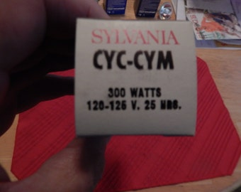 Sylvania Blue Top Projector Lamp CYC-CYM 300 Watts 120-125 Volts 25 Hours