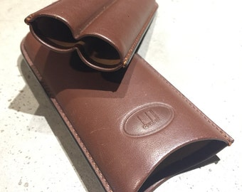 Dunhill Travel Cigar Holder Carrier Brown Leather for 2