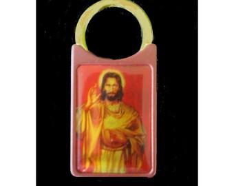 Religious Key Ring * Sacred Heart Of Jesus Key Chain * Member Key Holder
