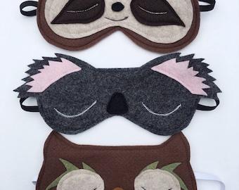 Handmade felt/fleece sleep mask