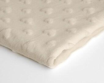 Polar Minky Heart fabric available in 11 colours