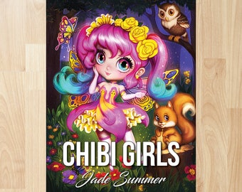 Chibi Girls by Jade Summer (Coloring Books, Coloring Pages, Adult Coloring Books, Adult Coloring Pages, Coloring Books for Adults)