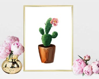 Printable wall art Digital Prints flower plants cactus