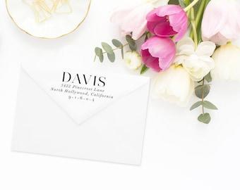 Return Address Stamp, Address Stamp, Custom Address Stamp, Return Address Stamp, Personalized Return Address Stamp, Rubber Stamp #57