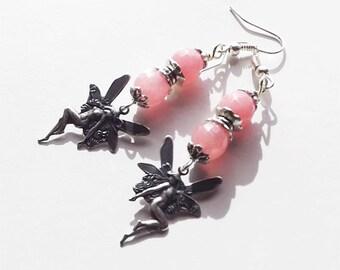 Pink Fairy Earrings