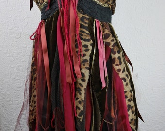 "Sensual Dress ""Anushka"", Unique, Art to wear, very feminine and romantic"