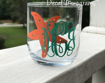 Starfish Monogram Vinyl Decal