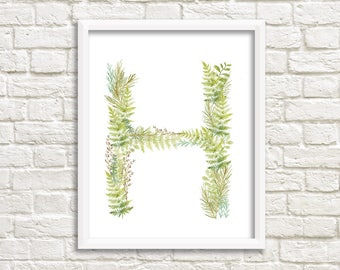 Letter H printable/ instant download