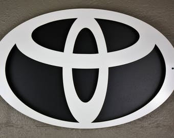 Toyota Car and Truck Inspired Car Wall Art and Man Cave Art - Large Emblem