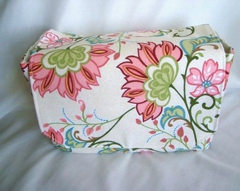 """Large 4"""" Size Coupon Organizer - Budget Holder - Attaches To Your Shopping Cart - Coral Beach Floral"""