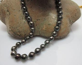 Pearls Necklace Necklace Pearl drop shape Baroque 9-10 mm No. 11