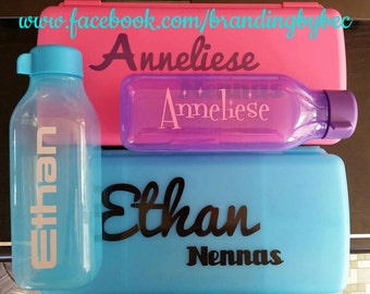 School, Daycare, Name Labels, Drink Bottles, Lunchbox, Tupperware