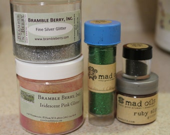 sale   COSMETIC GLITTER   Soap Making Supplies   Bath and Beauty   Iridescent Glitter   Silver Glitter   Red Glitter   Green Glitter   Free