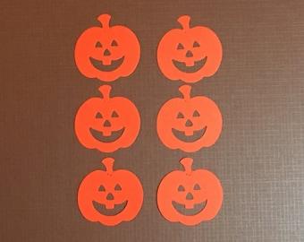 Set of 6 Pumpkin/Jack O Lantern Scrapbooking Die Cuts. Halloween Diecuts. Halloween Embellishments. Halloween Scrapbook. Halloween Tags.
