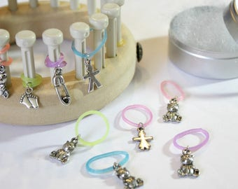 Loom Knitting Pattern 12 Stitch Markers - Snag Free Snug Fit - Specially Designed for Looms  - Baby Things