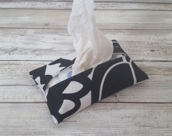 Black Onyx Travel tissue cover, Accessory Bags, tissue cover