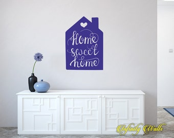 Home Sweet Home Decal - Life Family Wall decal quote - Home Decor - Living Room Wall Sticker - Farmhouse Welcome - Front Door Decals -