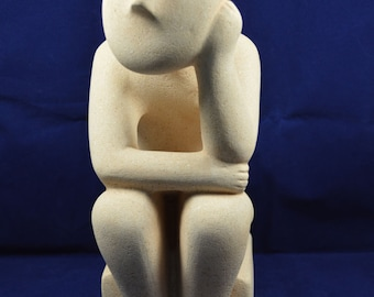 The Thinker Cycladic great sculpture statue