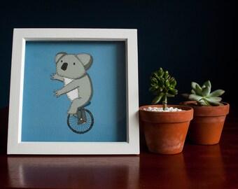 Koala Bear on Unicycle High-Quality Print - Bears Love Bikes #3