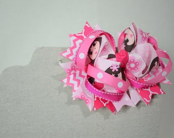 Dora The Explorer Pink Boutique Stacked Hair Bow