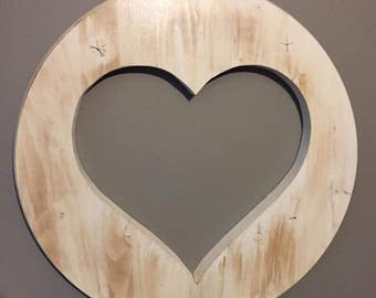 Round Heart Cutout Signs