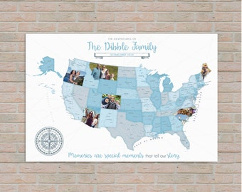 diy photo family vacation map custom photo family travel map usa travel map photo travel log h i24 1ps xx0 02n