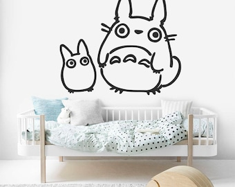 Totoro Nursery Decal, Totoro Over Bed Decor, Totoro Wall Decal, Kids Room Decal, Baby Room, Nursery Wall Decal, Bedroom Decal