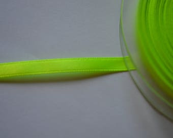 Shiny 6 mm neon yellow satin ribbon