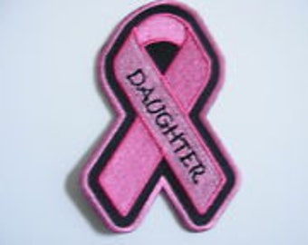 Pink Ribbon Breast Cancer Awareness Patch-DAUGHTER