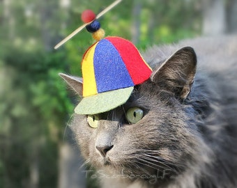 Propeller Cat Hat - Propeller Beanie - SF Fandom - Comics Beany Boy - Propellerhead - Cat Halloween Costume - Cat Dog Photo Prop