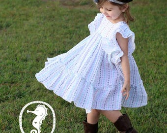 Emily's Angel Sleeve Dress PDF Pattern in sizes 6/12 mos to 8