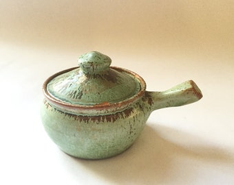 A.R. Cole Bean Pot with handle North Carolina Style Pottery