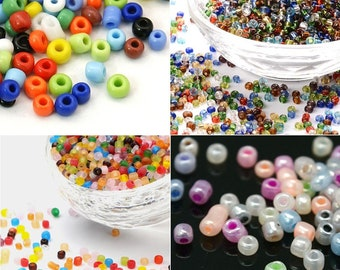 3mm Glass Seed Beads. App. 1,100. Silver Lined, Frosted, Opaque, Unicorn Pastel