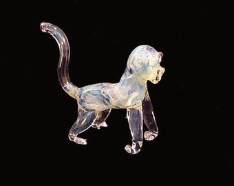 Hand blown glass monkey pipe.