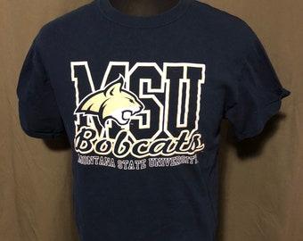 Vintage Montana State University T-Shirt, Size Large