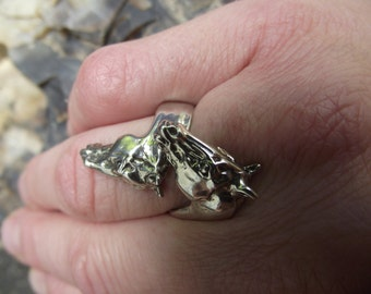 Equestrian jewelry horses ring  STERLING SILVER One size sizes 5 to 9 Zimmer design