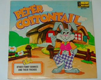 "Peter Cottontail - Children's Record - ""Story of Thumper"" - Disneyland Records 1972 - Vintage Vinyl LP Record Album"