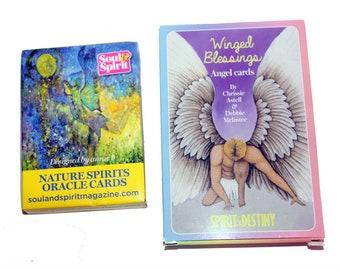 2x Oracle Card Packs. Nature Spirits Oracle Cards. Winged Blessings Angel Cards. Angel Cards. Oracle Cards. Guidance Cards. Fortune Telling.