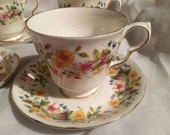 Colclough HEDGEROW Tea Cup and Saucer