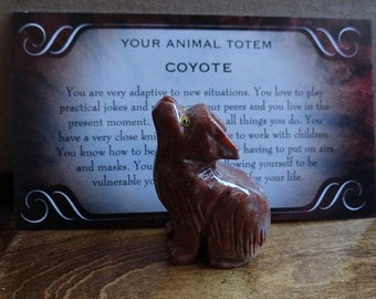 Hand Carved *COYOTE* Animal Spirit Totem for Spiritual Jewelry or Crafts