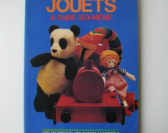 "Vintage ""Toys do-it-yourself"" book Editions C.I.L 1981, activities."