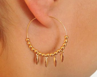 Earring creole ANAFI - gold plated 14K